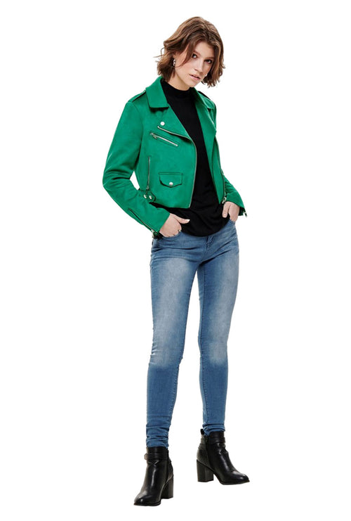 SHERRY CROPPED BONDED BIKER JACKET-London Clothing Company ®