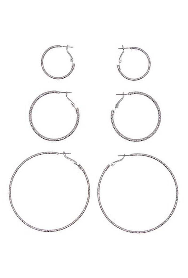 ONLY HELLE 3 PACK CREOL EARINGS
