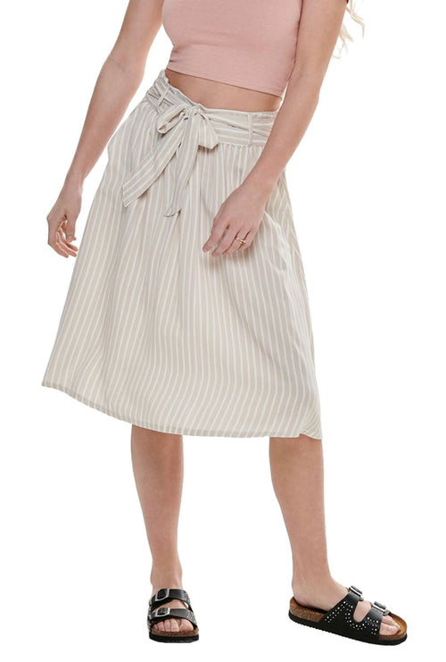 MANHATTAN STRIPE SKIRT