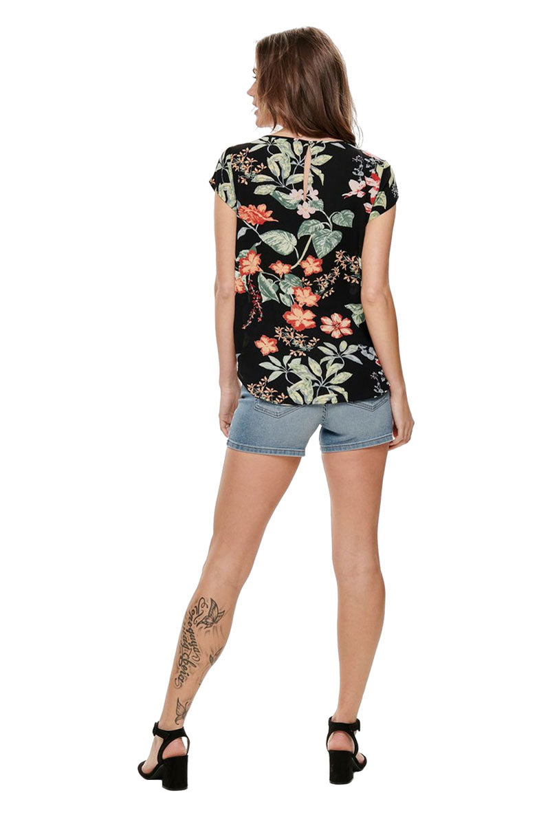 ONLY LUX TROPICAL FLOWER TOP