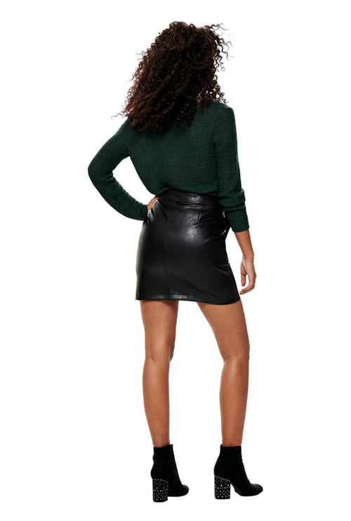 ABIGAIL FAUX LEATHER SKIRT
