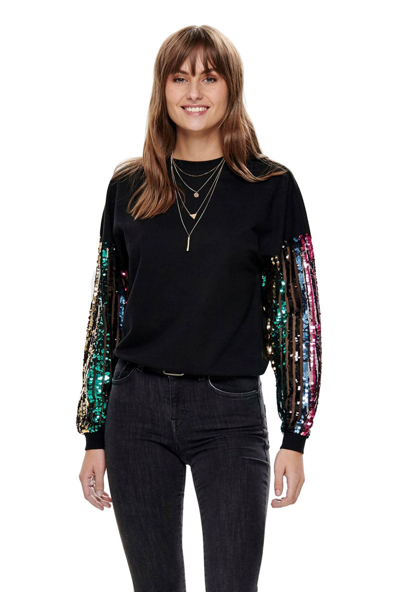 ONLY MELODY SEQUIN O NECK
