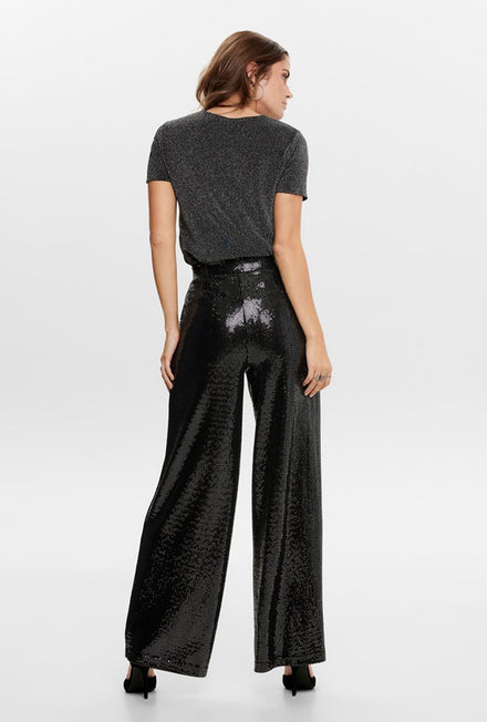 ONLY LUCA SEQUIN LONG WIDE PANTS