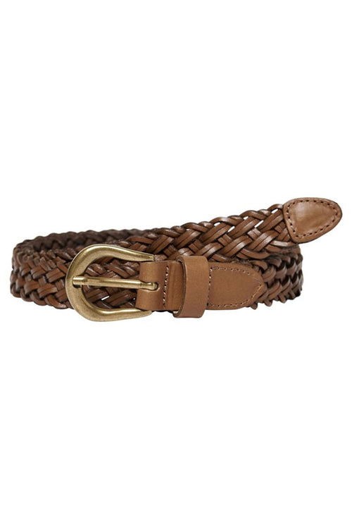 HANNA BRAIDED LEATHER BELT