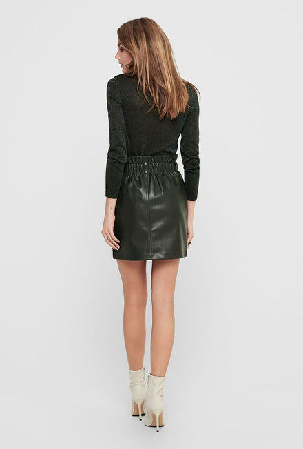 ONLY MIRI FAUX LEATHER SKIRT