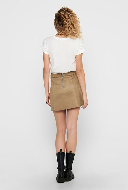 ONLY LINUS FAUX SUEDE BONDED SKIRT