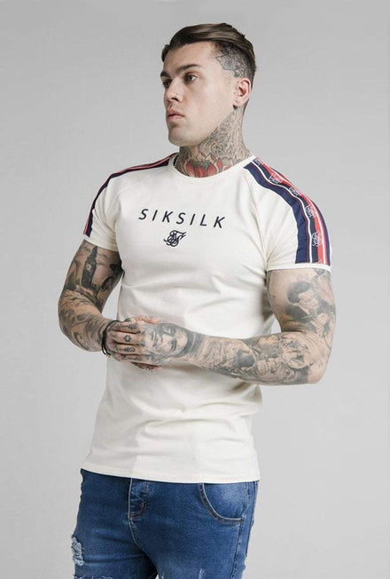 SIKSILK RAGLAN TAPE GYM TSHIRT