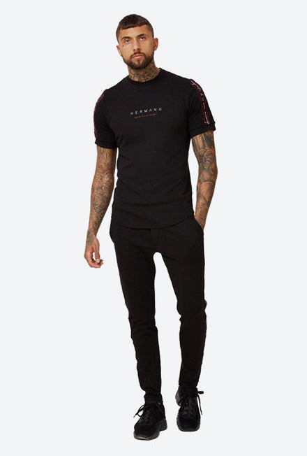HERMANO FOREFRONT TAPED JERSEY PANT