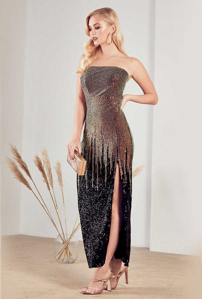 TFNC SIRINA MAXI MULTI SEQUINED DRESS