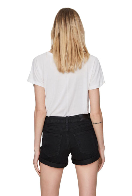 NOISY MAY LUCY BLACK FOLD SHORTS
