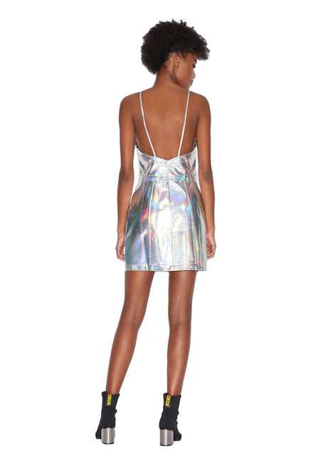 ARMANI EXCHANGE METALLIC MINI DRESS