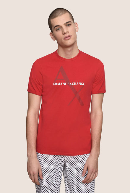 ARMANI EXCHANGE CLASSIC DIAGONAL TEE