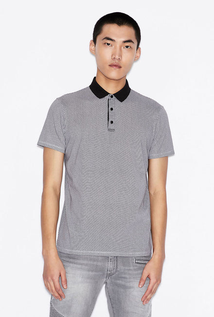 ARMANI EXCHANGE 3D PATTERN POLO
