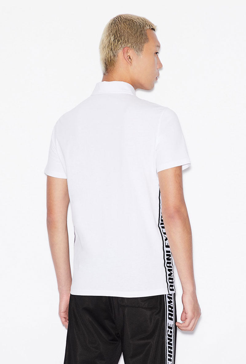 ARMANI EXCHANGE SIDE TAPE LOGO POLO