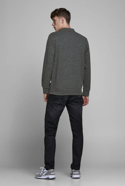 JACK AND JONES STRUCTURE ZIP SWEAT