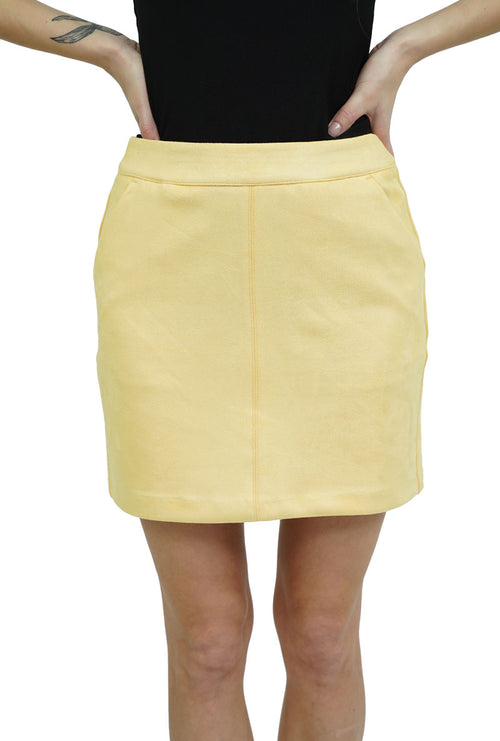 DINA FAUX SUEDE SHORT SKIRT