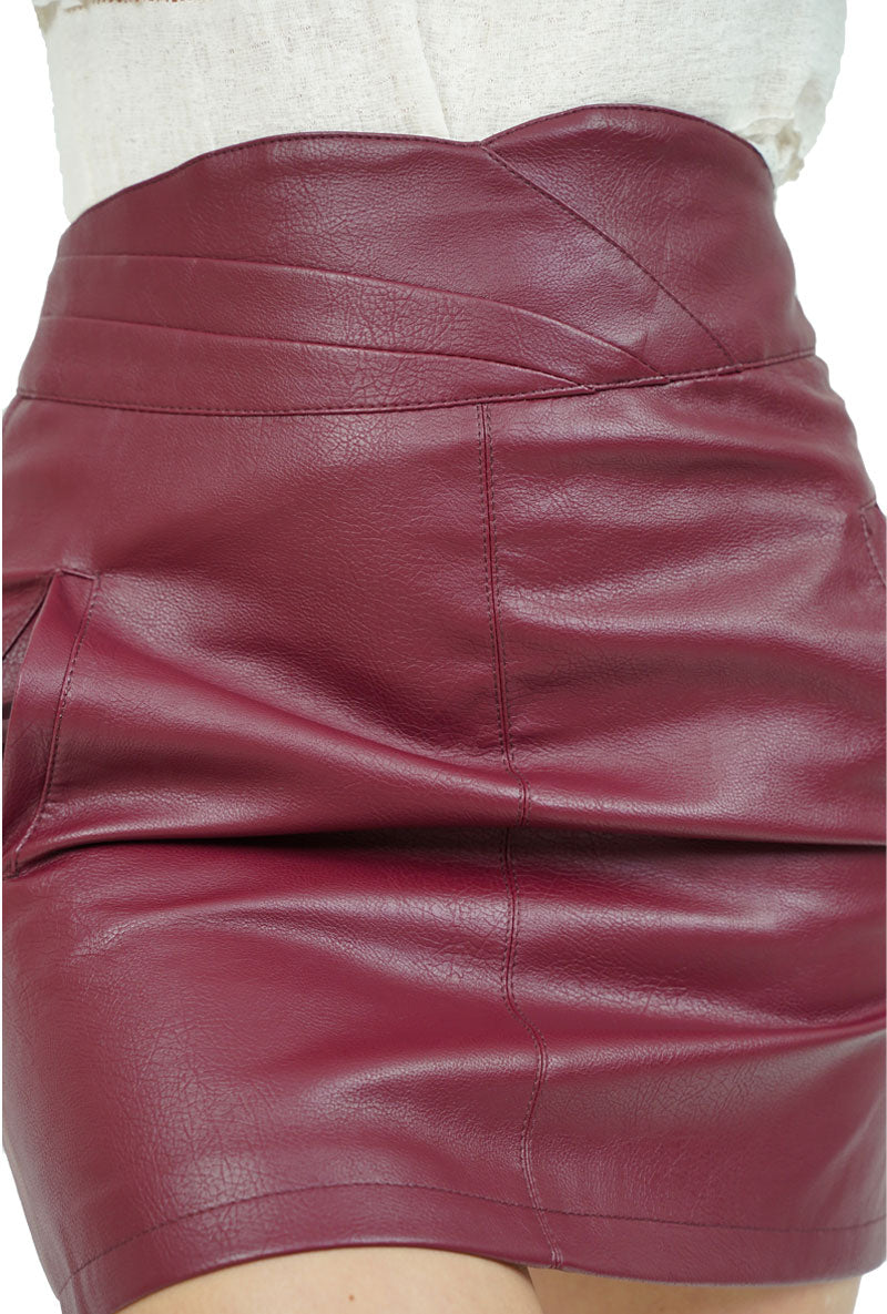 VERO MODA CONNERY FAUX LEATHER SKIRT