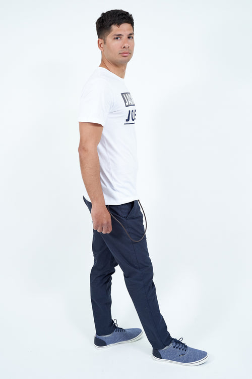 TRAVIS2 SLIM CROPPED TROUSERS