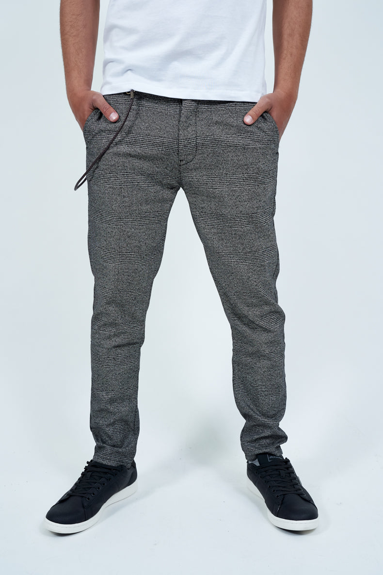 SOLID TRAVIS SLIM CROPPED TROUSERS
