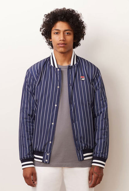 FILA LAKELAND STRIPED BOMBER JACKET