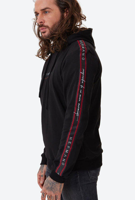 HERMANO FOREFRONT TAPED JERSY HOODIE