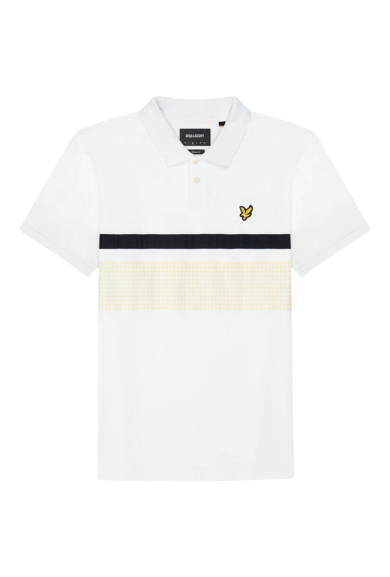 LYLE AND SCOTT YOKE STIPE POLO SHIRT