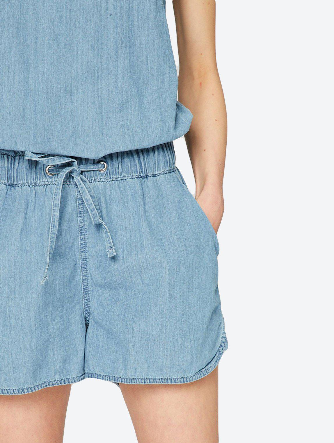 CHAMBRAYS SHORT PLAYSUIT