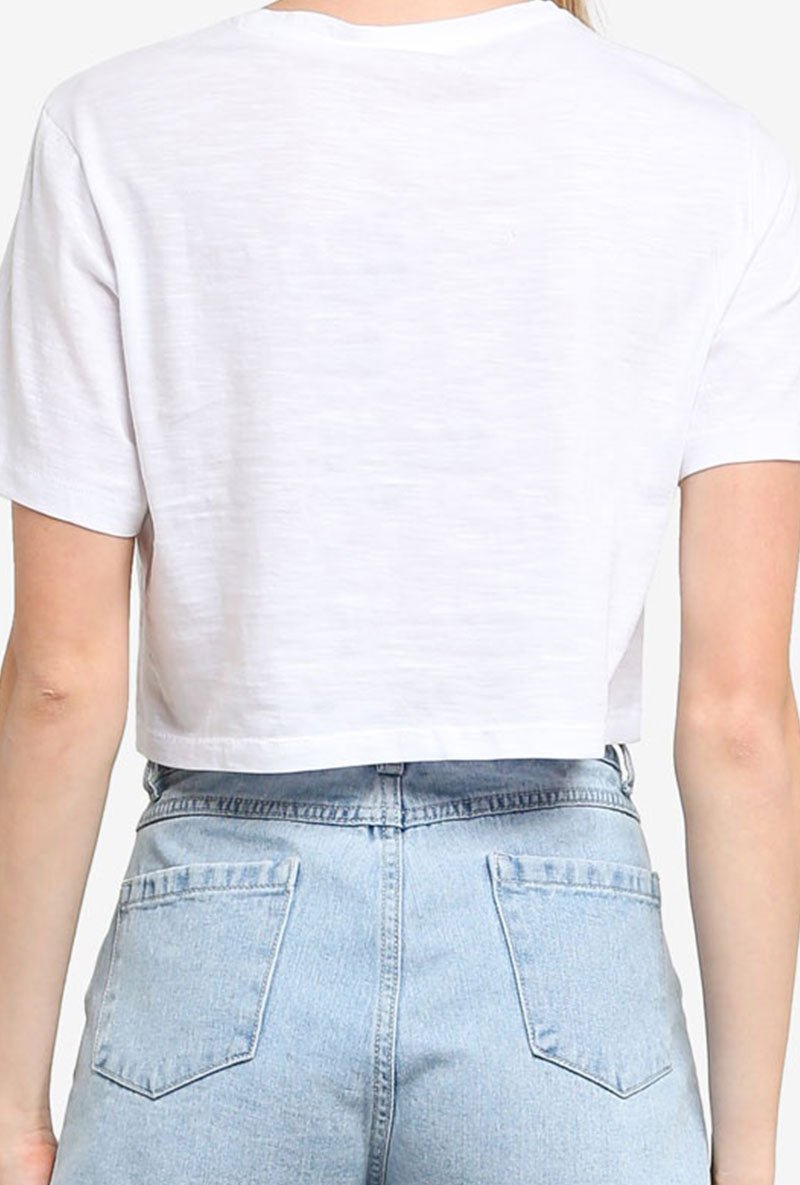 ONLY MADRID CROPPED TEE