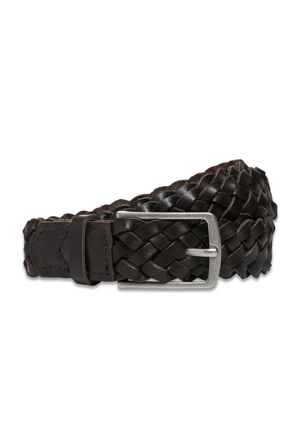 COLE BRAIDED LEATHER BELT