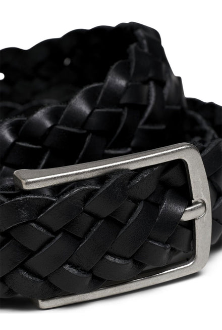 JACK AND JONES COLE BRAIDED LEATHER BELT