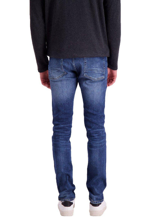 SLIM FIT BLUE MILL JEANS-London Clothing Company ®