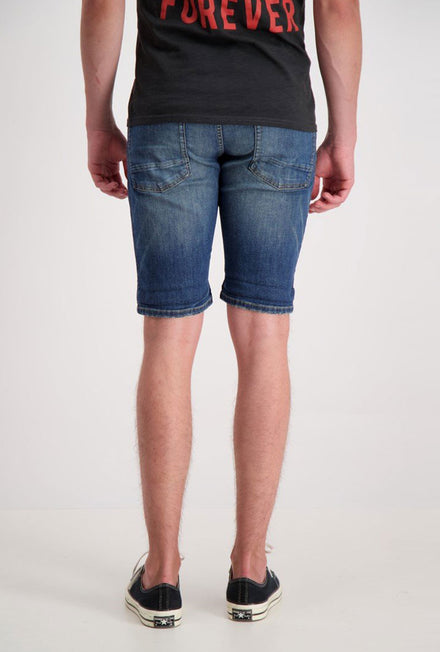 SHINE ORIGINAL MOTOR BLUE DENIM SHORTS