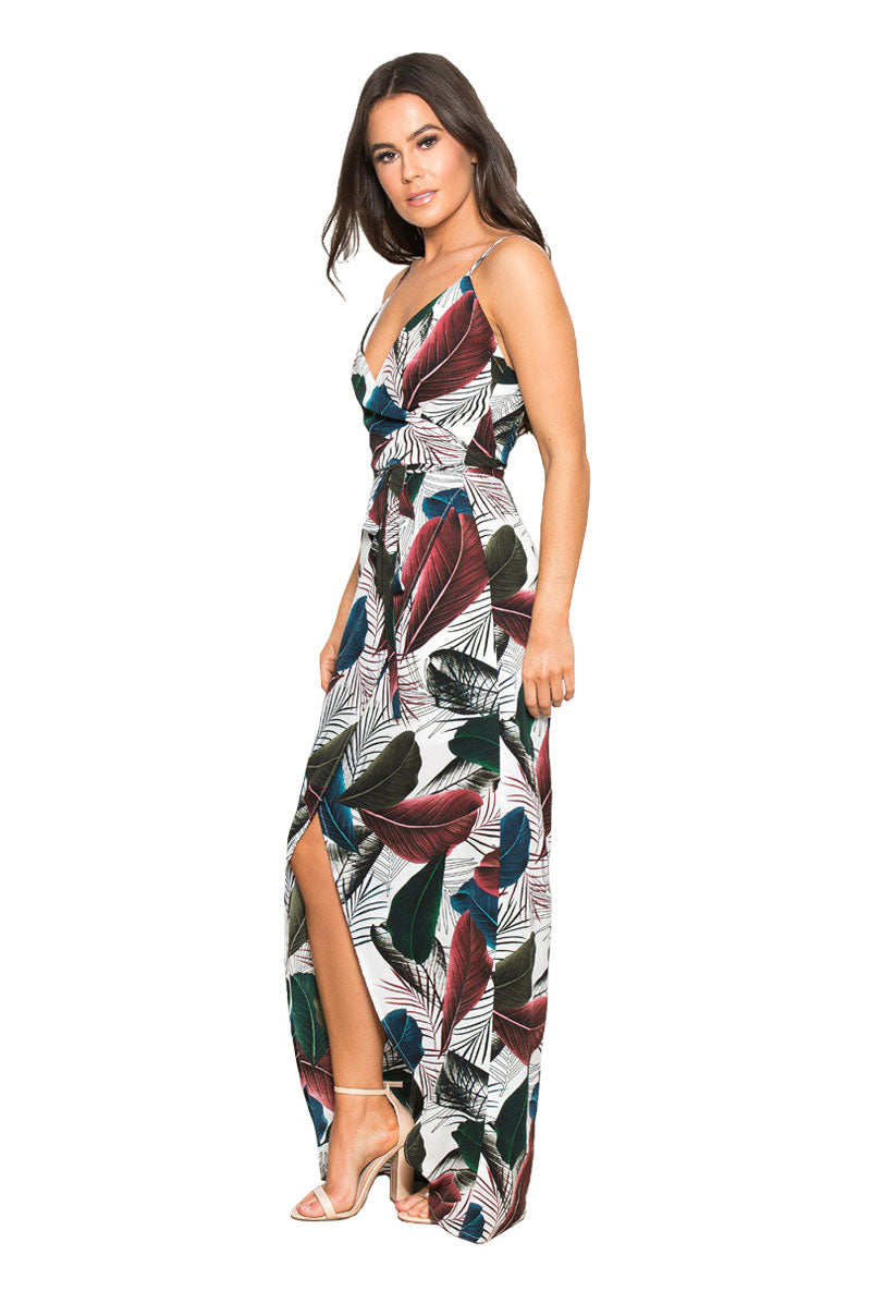GIRL IN MIND MIA FEATHER MAXI DRESS