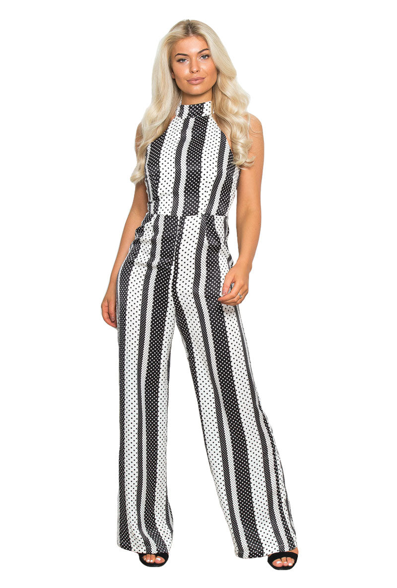 GIRL IN MIND KADY HIGH NECK JUMPSUIT