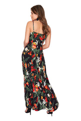 GABRIELLA BUTTON DETAIL MAXI DRESS