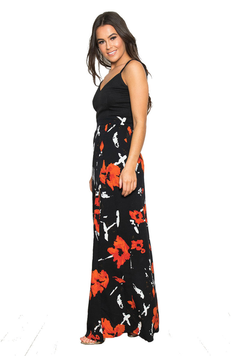 GIRL IN MIND FARAH FLORAL MAXI DRESS