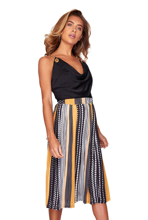 ARIANNA PLEATED MIDI SKIRT