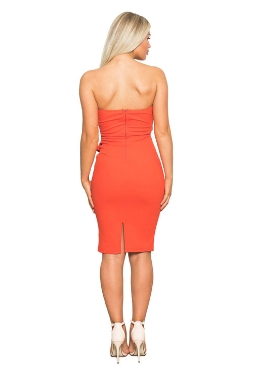 ELSIE BANDEAU MIDI DRESS-London Clothing Company ®