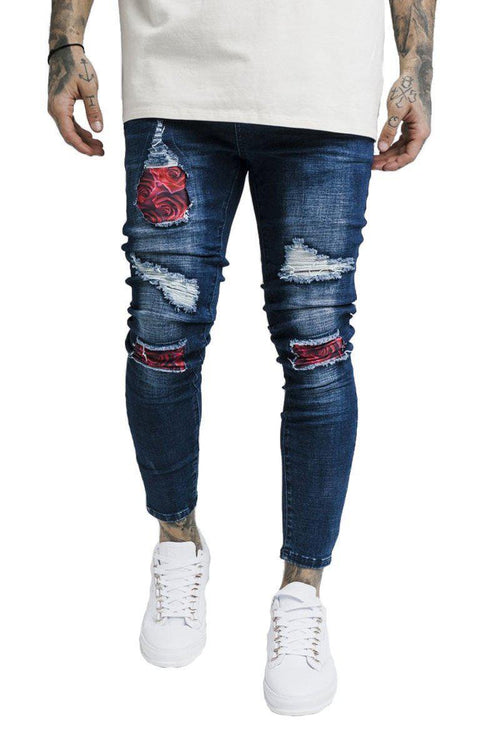 BUST KNEE DENIM-London Clothing Company ®