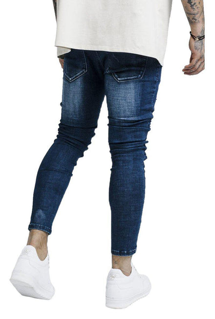 SIKSILK BUST KNEE DENIM
