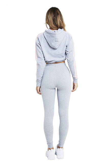 SIKSILK CONTRAST PANEL FITTED CROPPED HOODIE