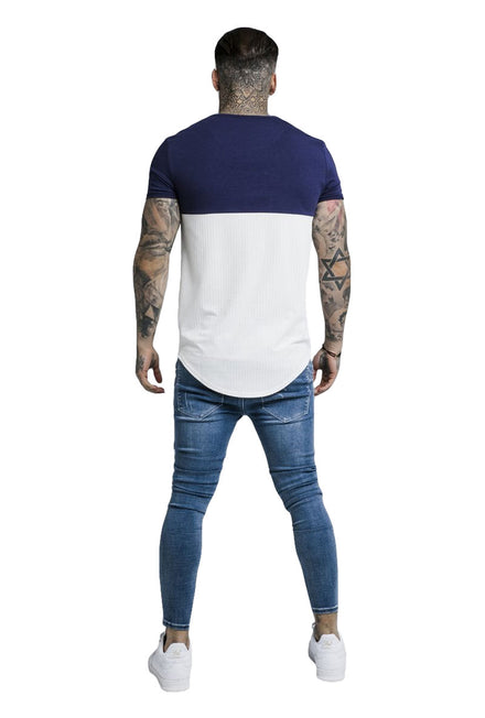 SIKSILK CUT AND SEW CURVED HEM TEE