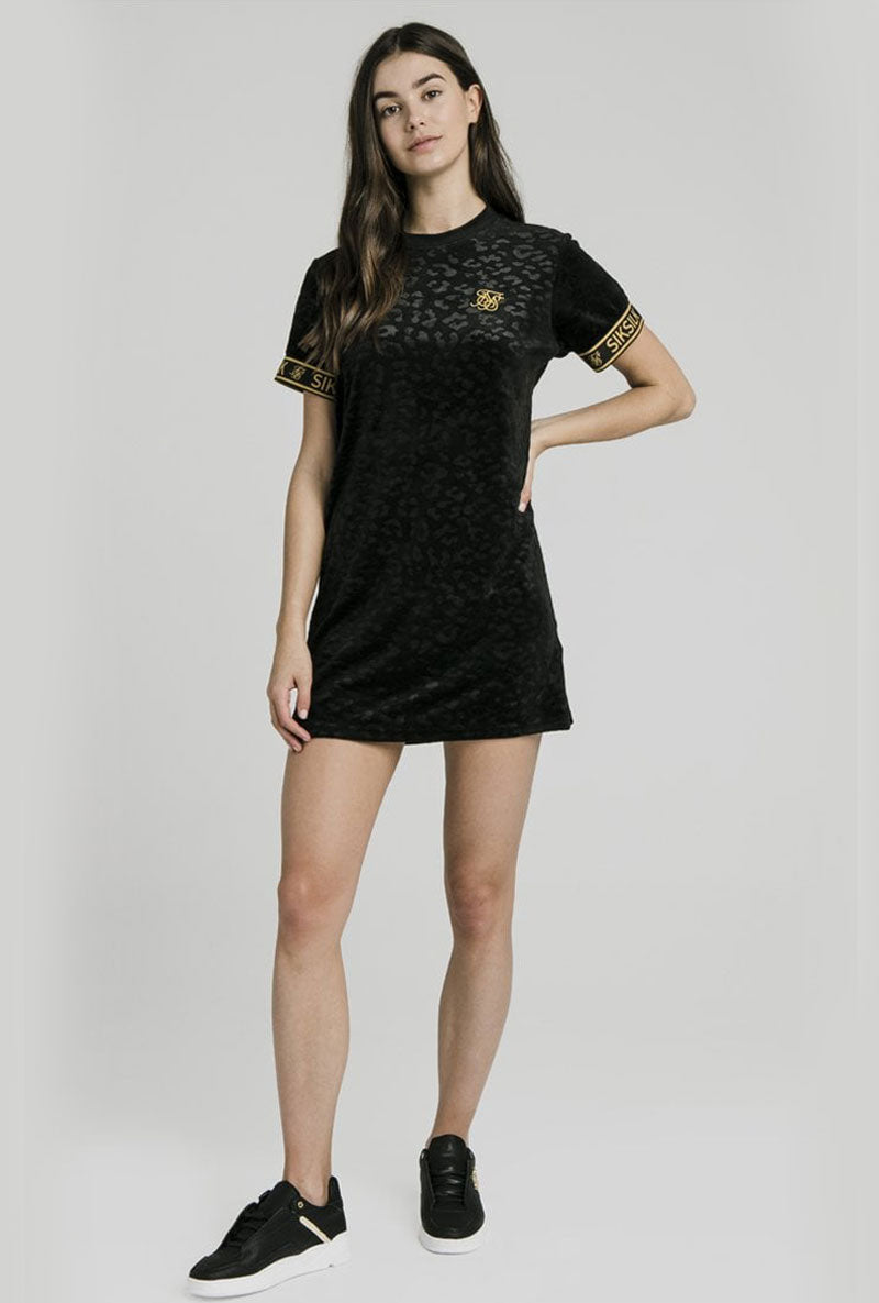 DEBOSSED TSHIRT DRESS