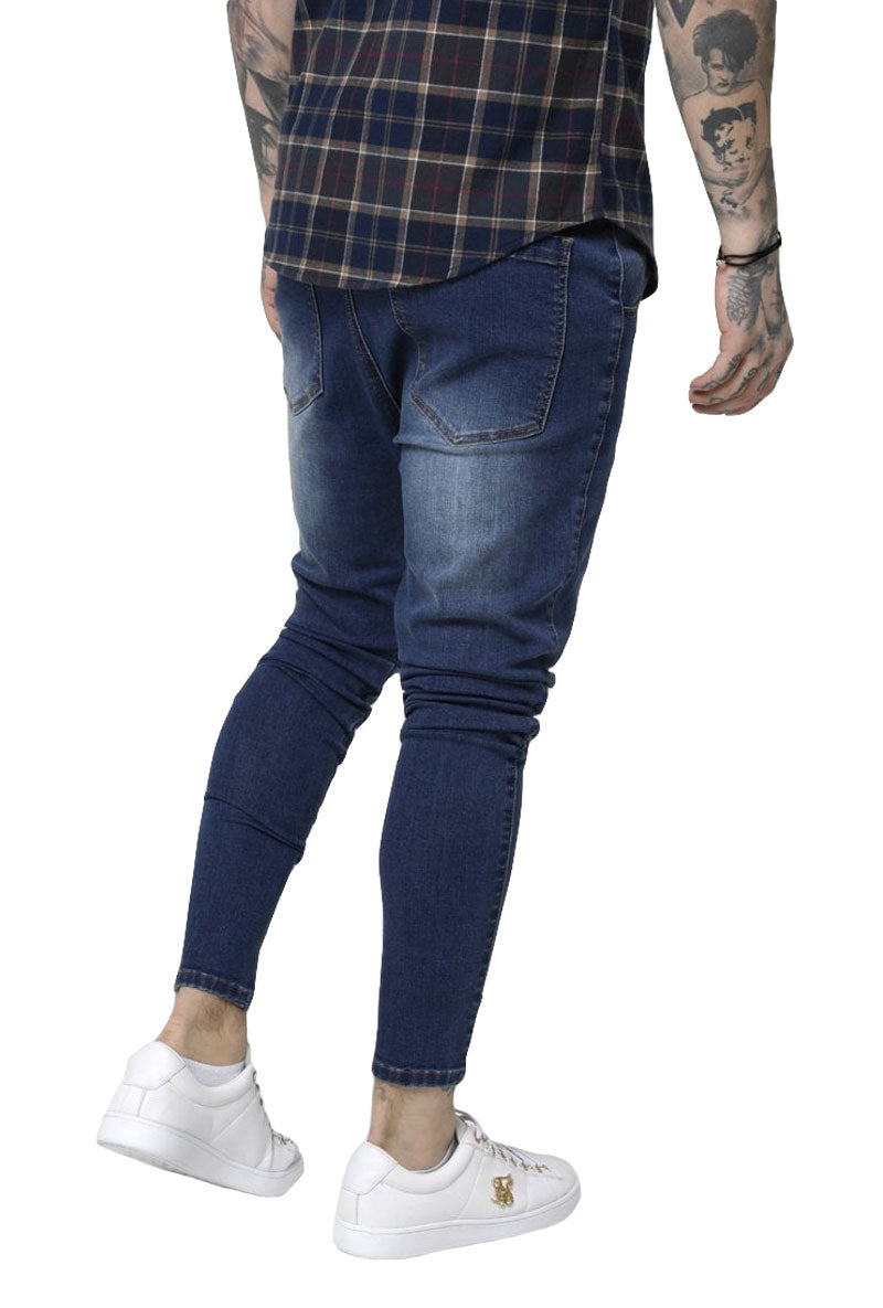 SIKSILK DROP CROTCH PATCH DENIMS