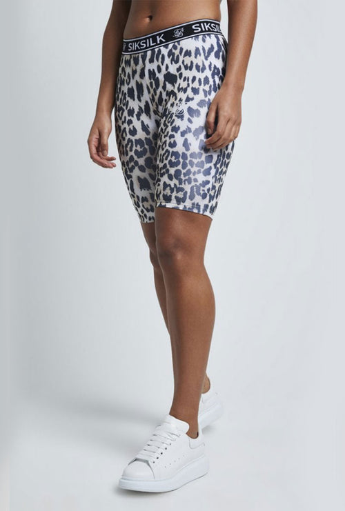 LEOPARD PRINT CYCLE SHORTS