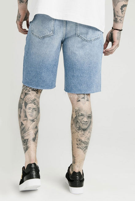 SIKSILK LOOSE FIT DENIM SHORTS