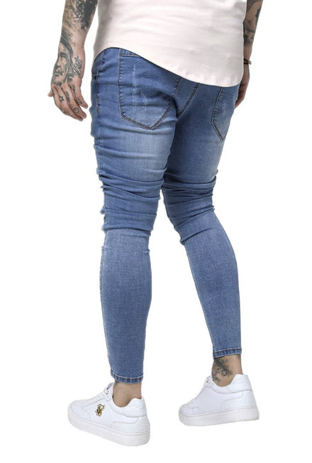 SIKSILK LOW RISE DISTRESSED JEANS