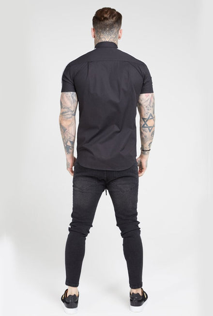 SIKSILK PIPED TAPE SHIRT