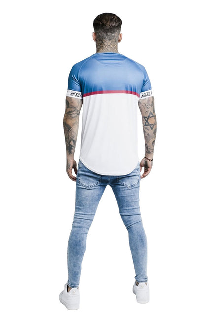 SIKSILK RAGLAN STRIPE TECH TEE