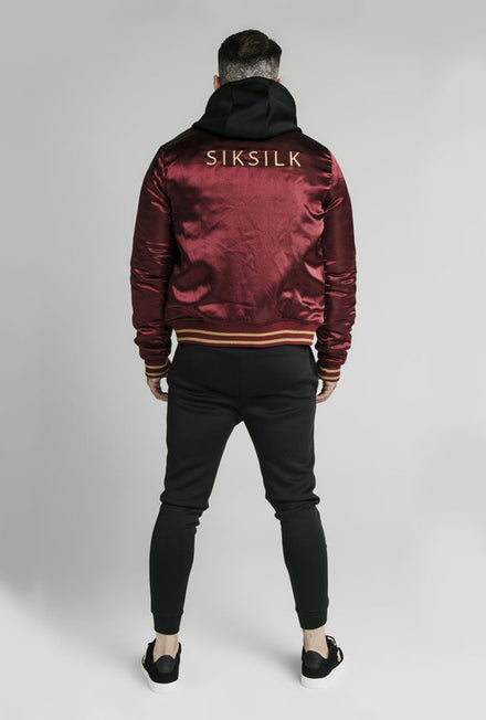 SIKSILK SATIN BOMBER JACKET